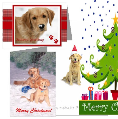 golden retriever giftscom christmas cards decor