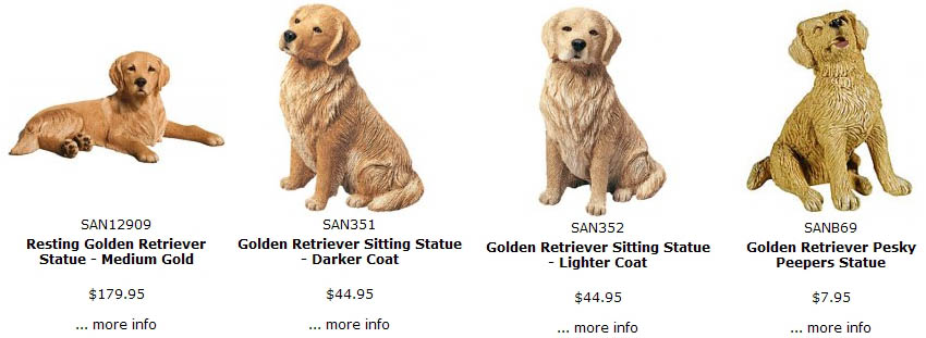 Superb Golden Retriever Figurines, For Sale @ Dog Stuf: