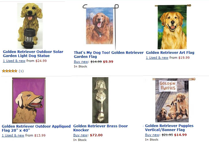 Flags Golden Retrievers