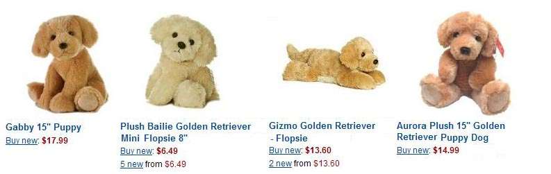 a089152250e stuffed golden retrievers plush ...